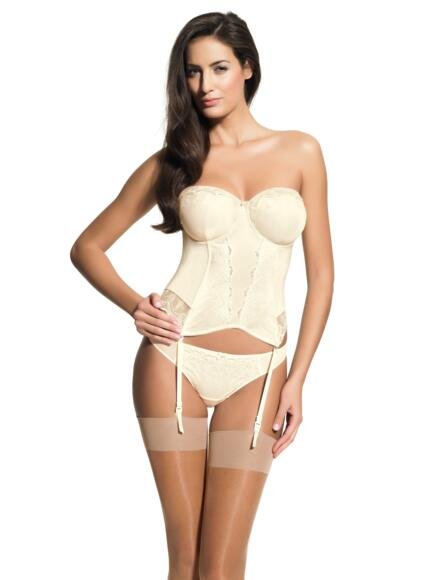 Panache Strapless Multiway Basque Evie - Ivory