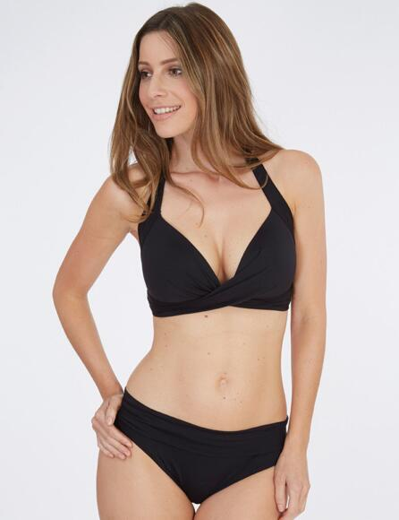 Lepel Lagoon Halter Triangle Bikini Top 159768  - Black