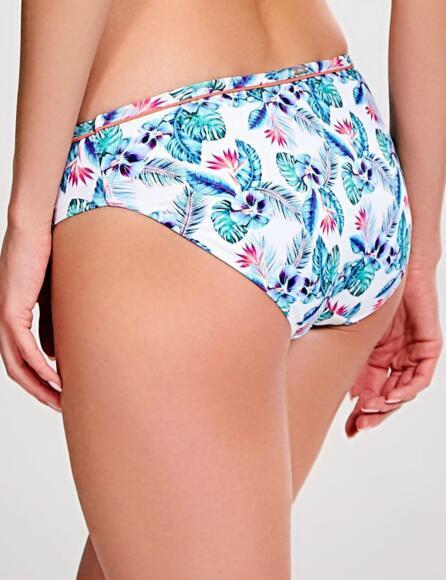 Panache Elle Classic Bikini Pant Brief sw0876  - White Tropical