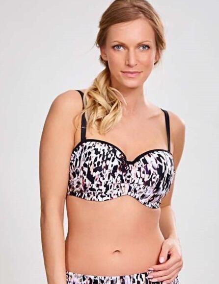 Panache Florentine Bandeau Strapless/straps Bikini Top Animal Print 1057  - ANIMAL PRINT