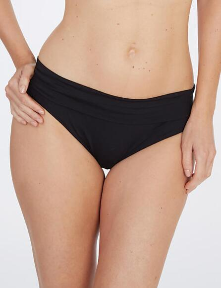 Lepel Lagoon Fold Over Bikini Pant/Brief Black 159779 - Black