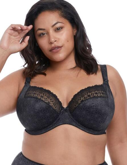 Elomi Kim Underwired Bra 4340 Non Padded Full Cup  - Black