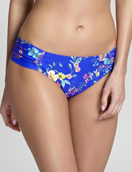Panache Florentine Gather Bikini Bottoms/Pant Cobalt/Floral 1059 - Cobalt/Floral