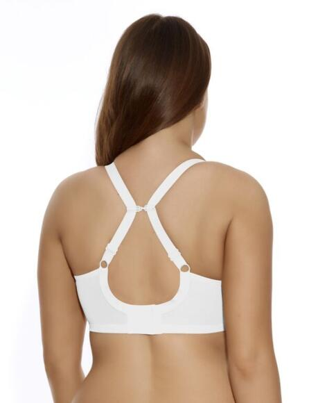 Elomi Energise Sports Bra.  High Impact, Multiway 8041 - White