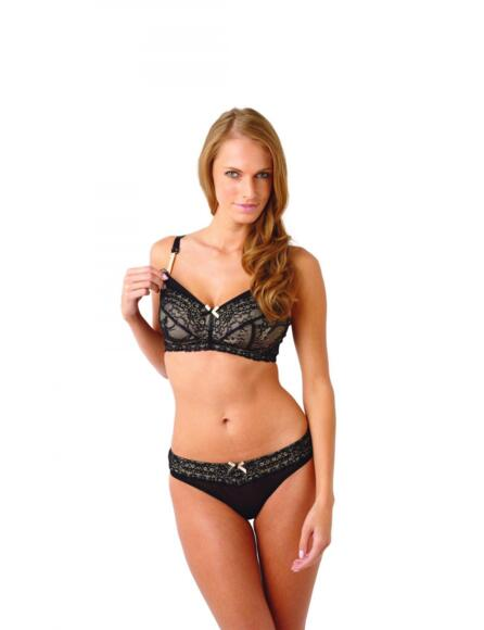Panache Sophie Maternity Nursing Bra Non-Wired 5821 - Black/Nude