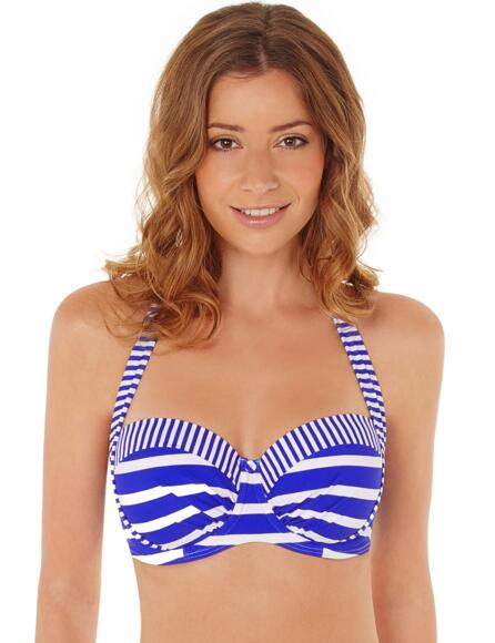 Lepel Riviera Moulded Halter Bandeau Bikini Top 160061 - Blue/White