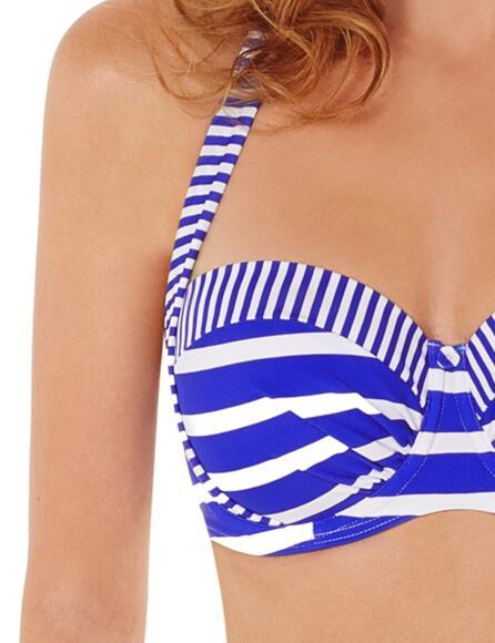 Lepel Riviera Moulded Halter Bandeau Bikini Top 160061 - Blue/White