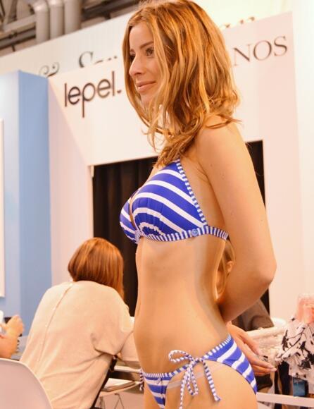 Lepel Riviera Tie Side Bikini Brief/Pant 160072 - Blue/White