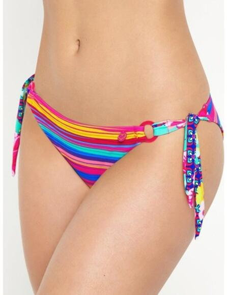 Lepel Sun Kiss Tie Side Bikini Pant Pink Multi - Pink Multi