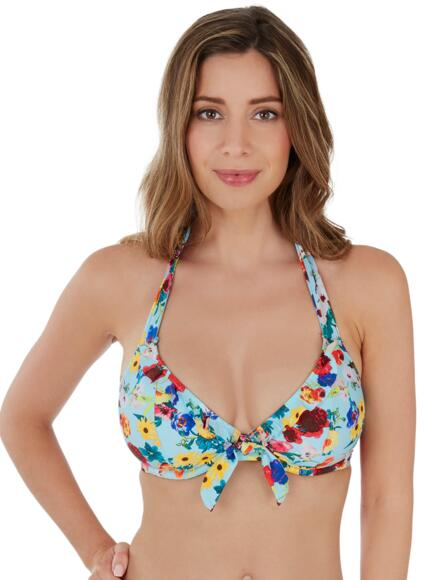 Lepel Flower Power Halter Bikini Top 1680620 - Blue Multi